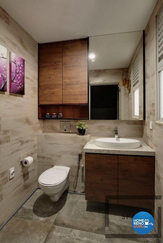Modern, Scandinavian Design - Bathroom - Office - Design by Space Atelier Pte Ltd