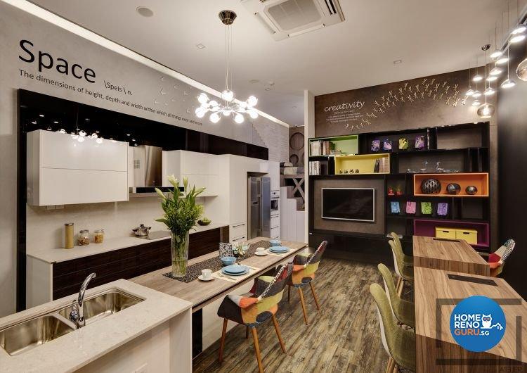 Modern, Scandinavian Design - Kitchen - Office - Design by Space Atelier Pte Ltd
