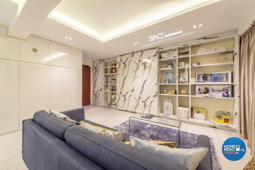 Modern, Victorian Design - Living Room - HDB 4 Room - Design by Space Define Interior