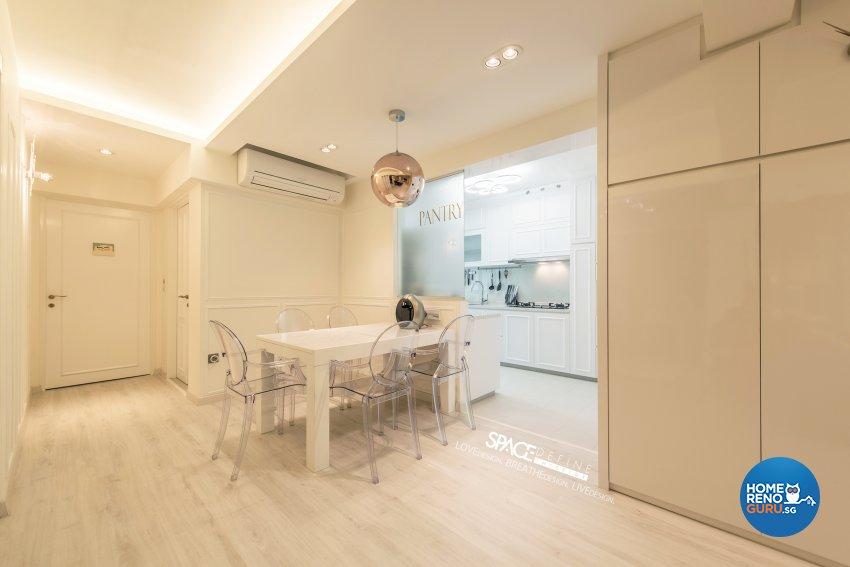 Modern, Victorian Design - Dining Room - HDB 4 Room - Design by Space Define Interior