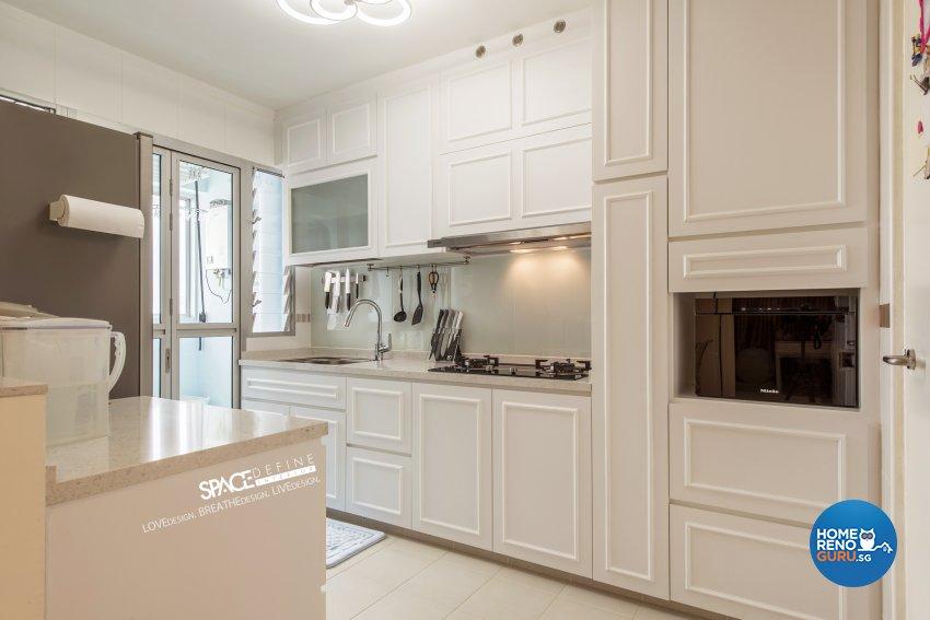 Modern, Victorian Design - Kitchen - HDB 4 Room - Design by Space Define Interior