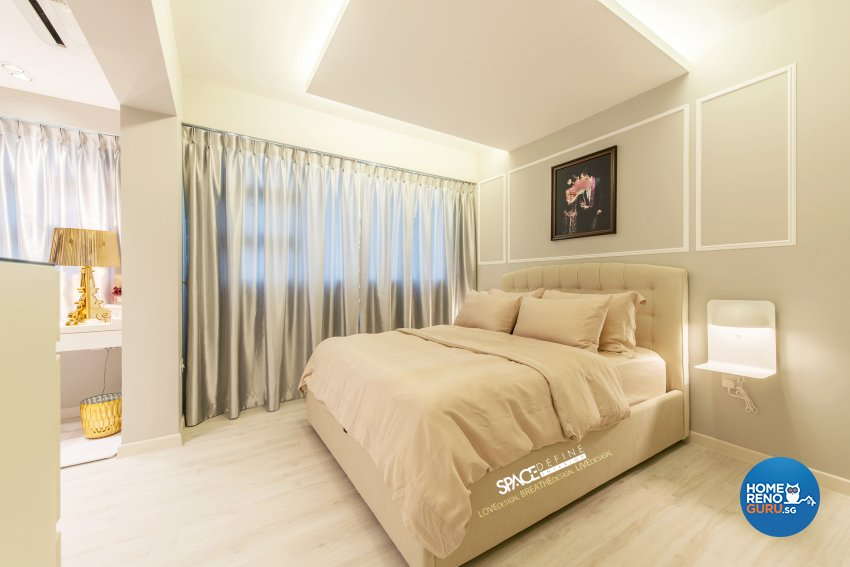 Modern, Victorian Design - Bedroom - HDB 4 Room - Design by Space Define Interior
