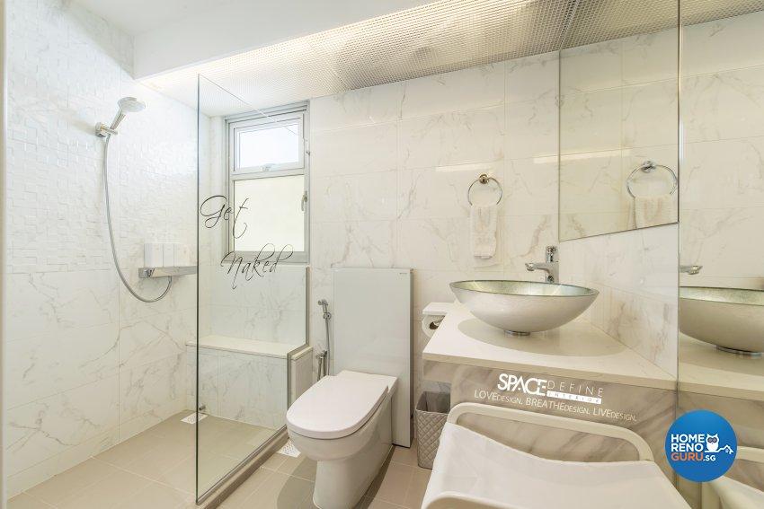 Modern, Victorian Design - Bathroom - HDB 4 Room - Design by Space Define Interior