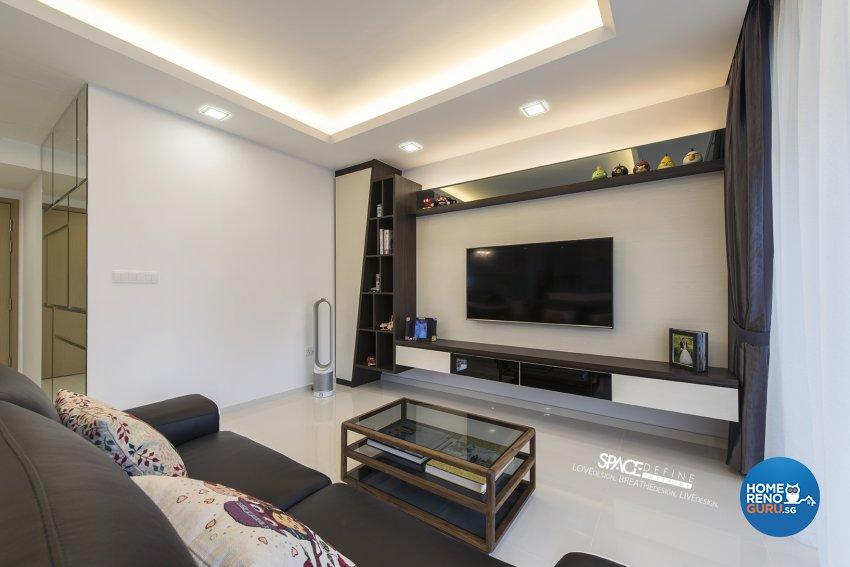 Contemporary, Modern Design - Living Room - Condominium - Design by Space Define Interior