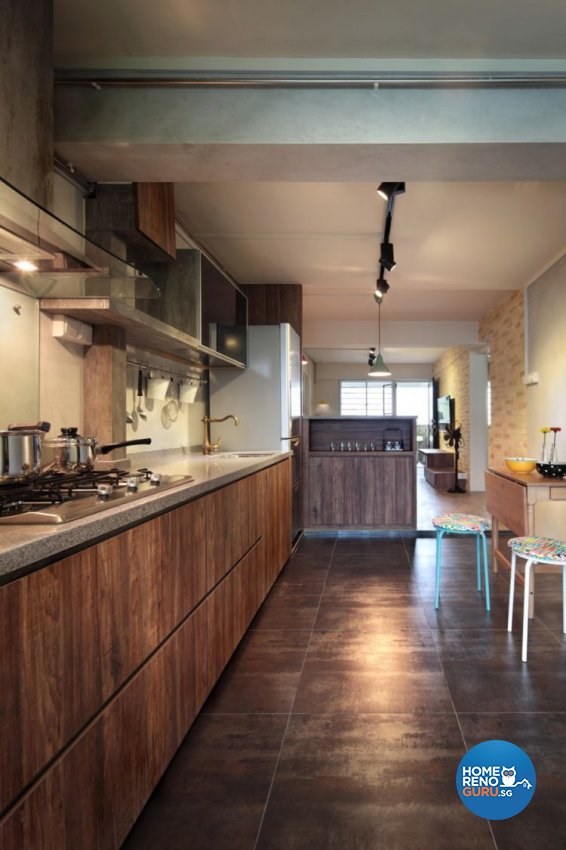 Country, Scandinavian Design - Kitchen - HDB 5 Room - Design by Space Define Interior