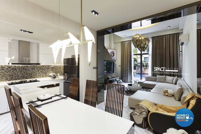 Modern Design - Dining Room - Condominium - Design by Space Define Interior