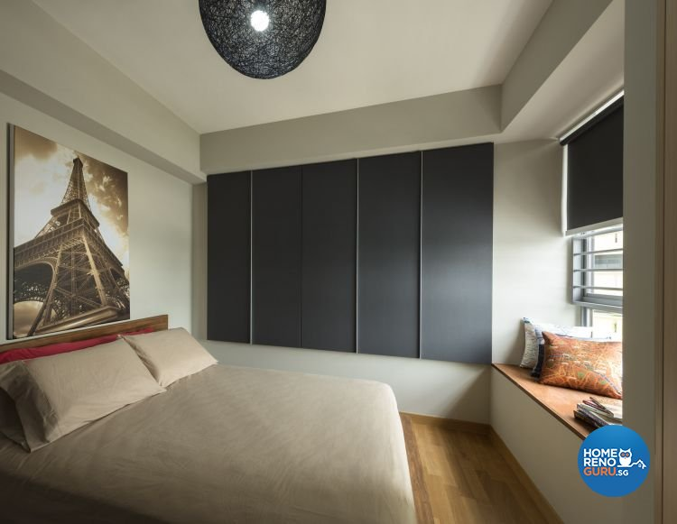 Contemporary, Retro Design - Bedroom - HDB 5 Room - Design by Space Factor Pte Ltd
