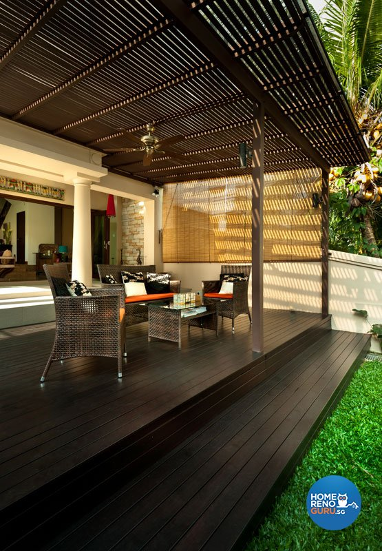 Contemporary, Modern Design - Balcony - Landed House - Design by Space Factor Pte Ltd