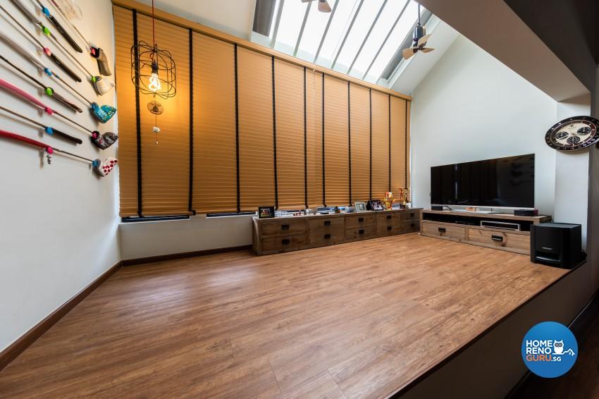 Scandinavian Design - Entertainment Room - Landed House - Design by Space Vision Design Pte Ltd