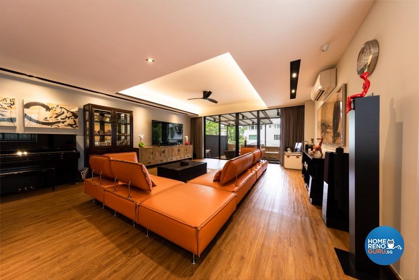 Scandinavian Design - Living Room - Landed House - Design by Space Vision Design Pte Ltd