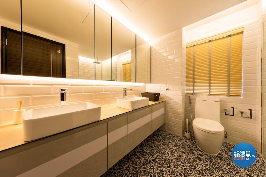 Scandinavian Design - Bathroom - Landed House - Design by Space Vision Design Pte Ltd