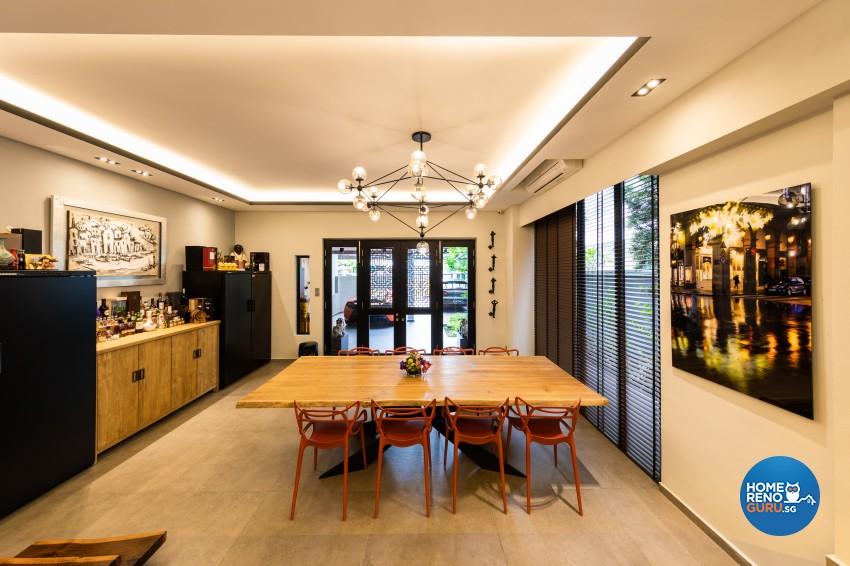 Scandinavian Design - Dining Room - Landed House - Design by Space Vision Design Pte Ltd