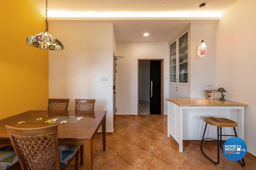 Country Design - Dining Room - Condominium - Design by Space Vision Design Pte Ltd