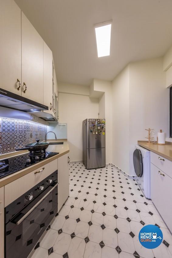 Country Design - Kitchen - Condominium - Design by Space Vision Design Pte Ltd