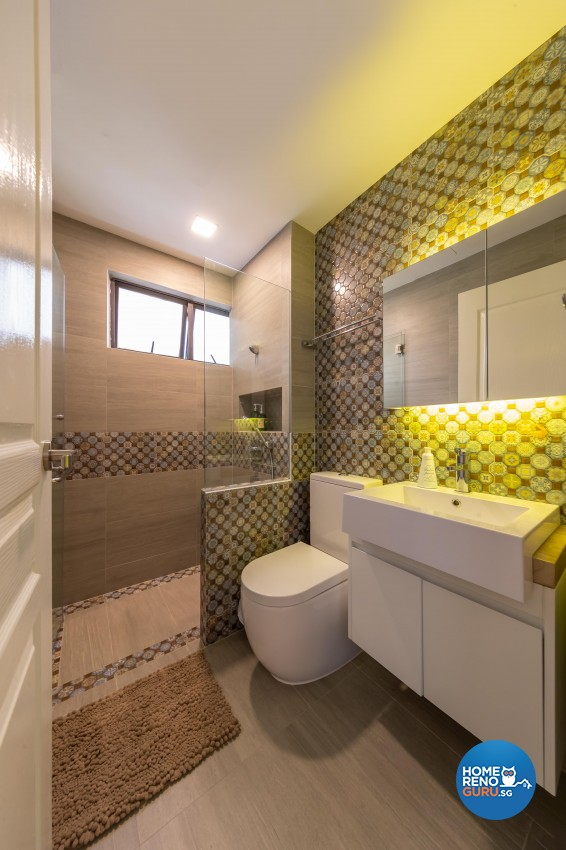 Country Design - Bathroom - Condominium - Design by Space Vision Design Pte Ltd