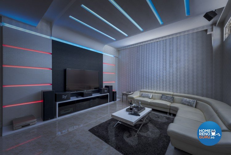 Contemporary, Modern Design - Entertainment Room - Landed House - Design by Space Vision Design Pte Ltd