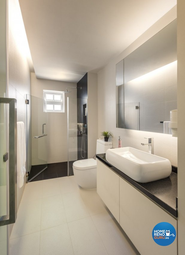 Contemporary, Modern Design - Bathroom - Landed House - Design by Space Vision Design Pte Ltd