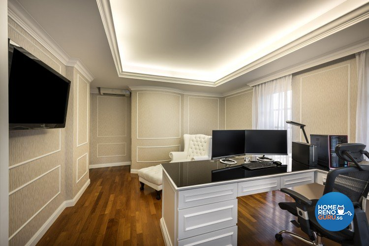 Contemporary, Modern Design - Study Room - Landed House - Design by Space Vision Design Pte Ltd