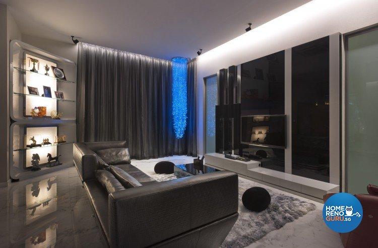 Eclectic, Modern Design - Living Room - Landed House - Design by Space Vision Design Pte Ltd
