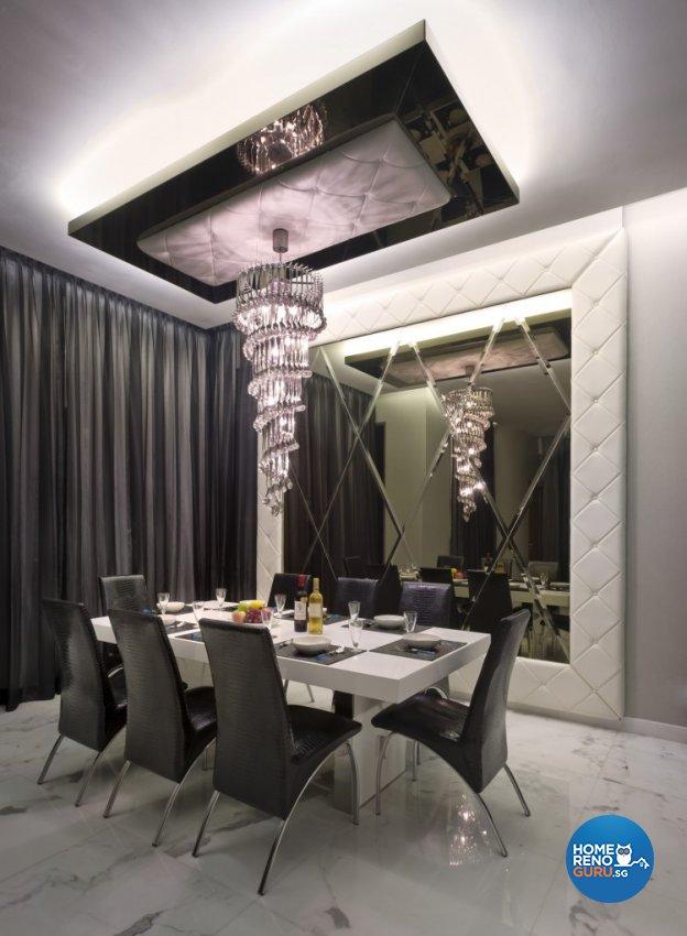 Eclectic, Modern Design - Dining Room - Landed House - Design by Space Vision Design Pte Ltd