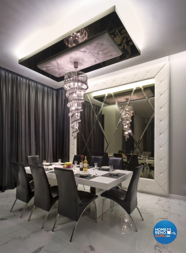 Eclectic, Modern Design - Dining Room - Landed House - Design by Space Vision Design Pte Ltd