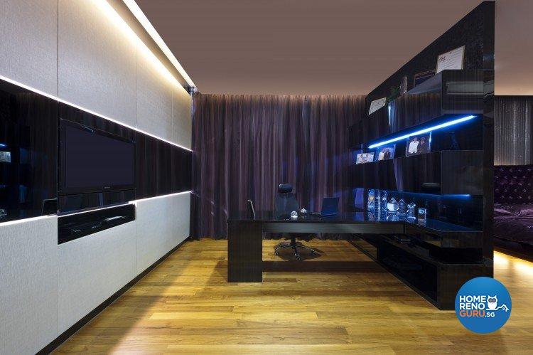 Eclectic, Modern Design - Study Room - Landed House - Design by Space Vision Design Pte Ltd