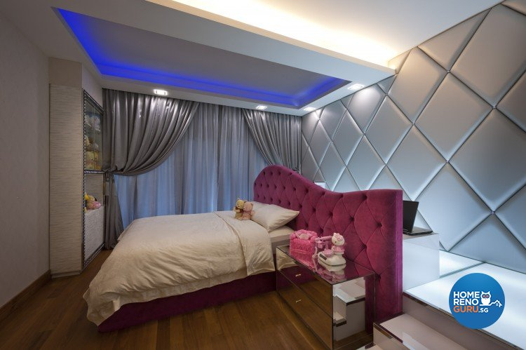 Eclectic, Modern Design - Bedroom - Landed House - Design by Space Vision Design Pte Ltd