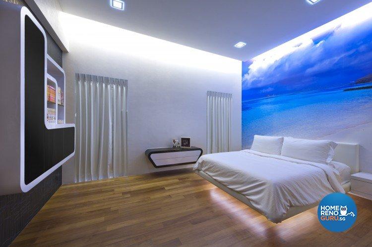 Eclectic, Modern Design - Bedroom - Landed House - Design by Space Vision Design Pte Ltd