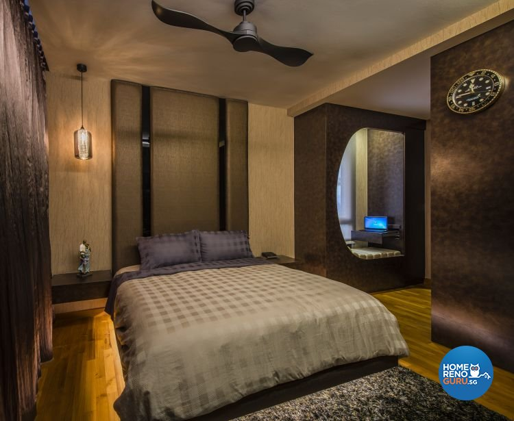 Contemporary, Rustic Design - Bedroom - Landed House - Design by Space Vision Design Pte Ltd