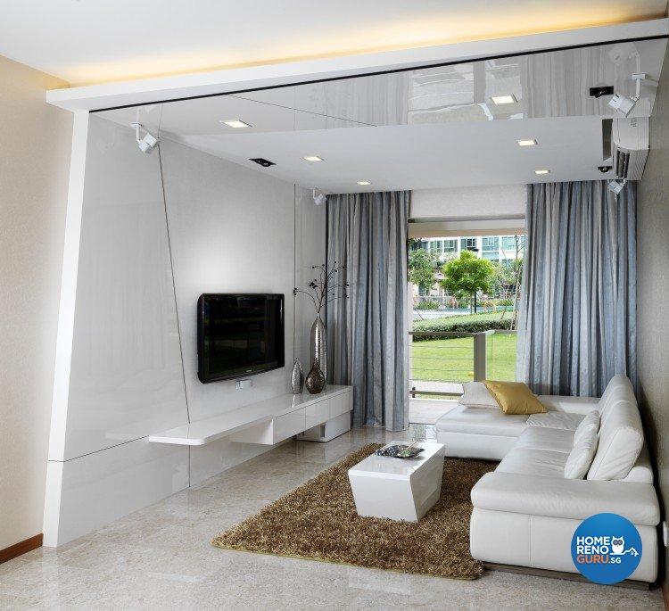 Minimalist, Modern Design - Living Room - Condominium - Design by Space Vision Design Pte Ltd