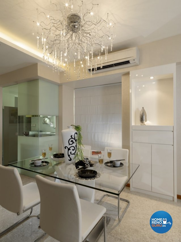Minimalist, Modern Design - Dining Room - Condominium - Design by Space Vision Design Pte Ltd