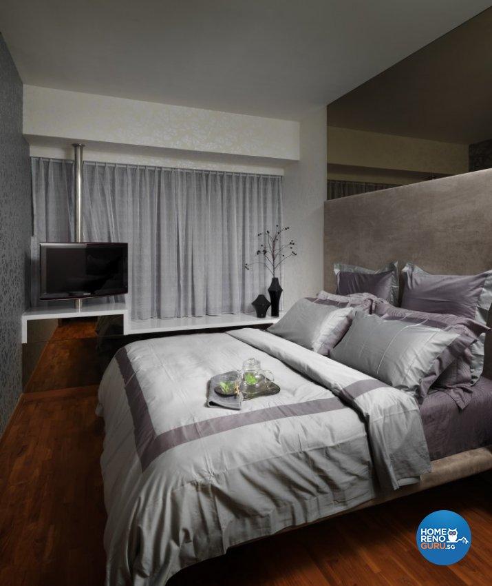 Minimalist, Modern Design - Bedroom - Condominium - Design by Space Vision Design Pte Ltd