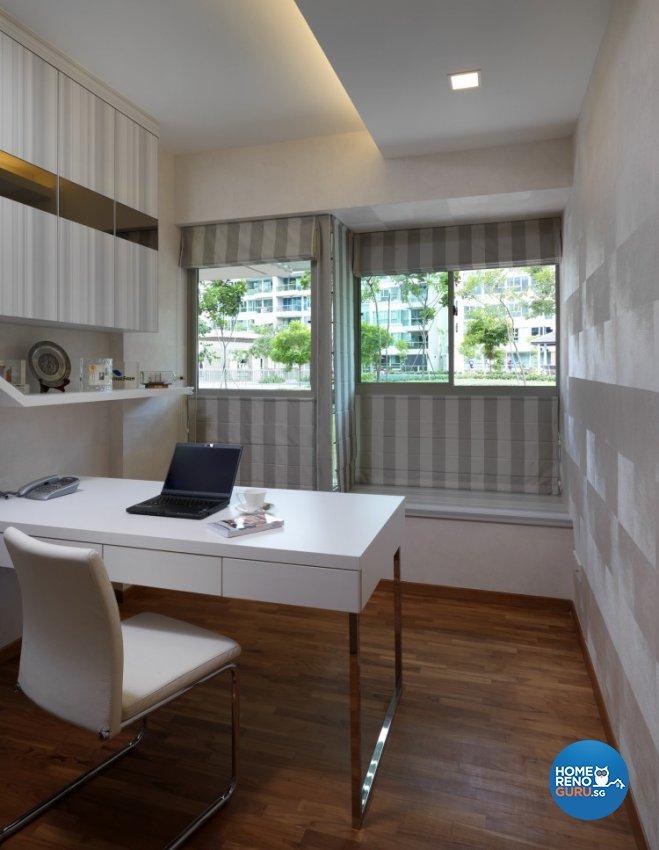 Minimalist, Modern Design - Study Room - Condominium - Design by Space Vision Design Pte Ltd