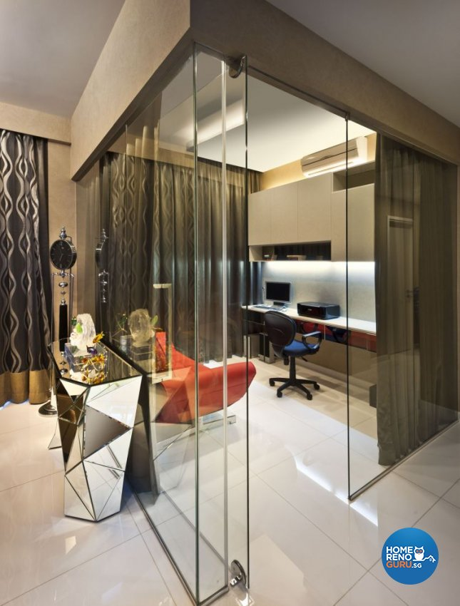 Contemporary, Modern Design - Study Room - Condominium - Design by Space Vision Design Pte Ltd