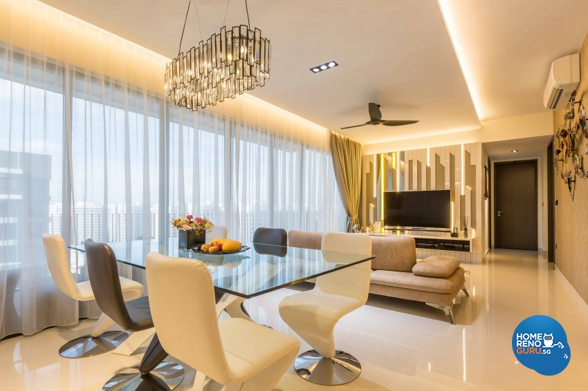 Modern Design - Living Room - Condominium - Design by Space Vision Design Pte Ltd