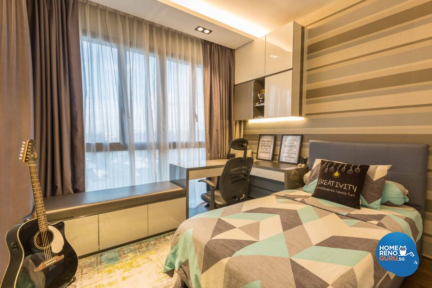 Modern Design - Bedroom - Condominium - Design by Space Vision Design Pte Ltd