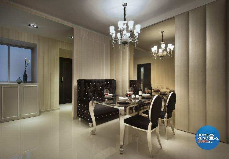 Classical, Contemporary Design - Dining Room - Condominium - Design by Space Vision Design Pte Ltd