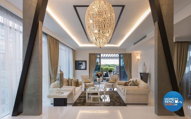 Classical, Modern Design - Living Room - Condominium - Design by Space Vision Design Pte Ltd