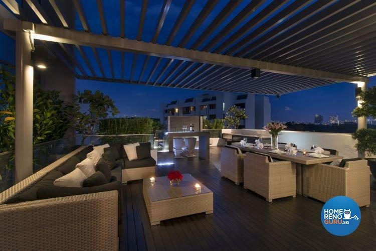Classical, Modern Design - Balcony - Condominium - Design by Space Vision Design Pte Ltd