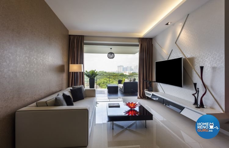 Contemporary, Scandinavian Design - Living Room - Condominium - Design by Space Vision Design Pte Ltd