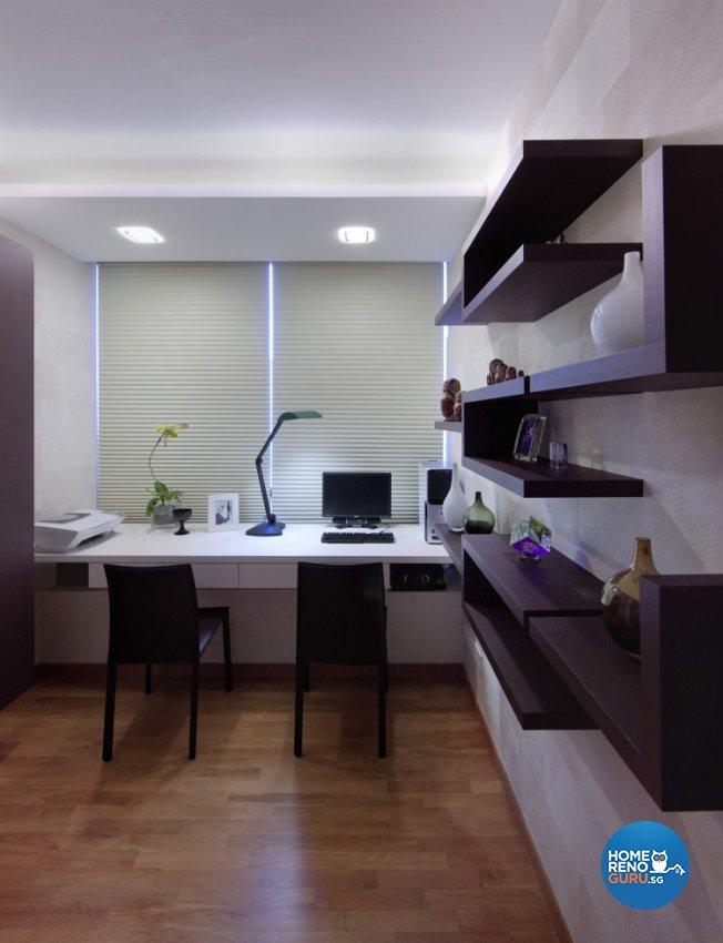 Condominium Study Room: Space Vision Design Pte Ltd Condominium Sea View 1535
