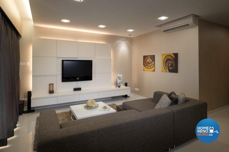 Modern, Victorian Design - Living Room - Condominium - Design by Space Vision Design Pte Ltd