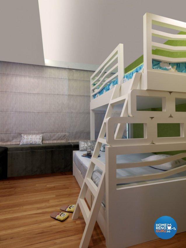 Contemporary, Modern Design - Bedroom - Condominium - Design by Space Vision Design Pte Ltd