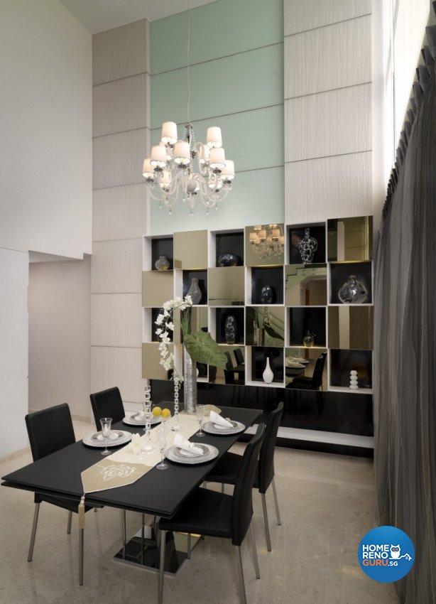 Contemporary, Modern Design - Dining Room - Condominium - Design by Space Vision Design Pte Ltd