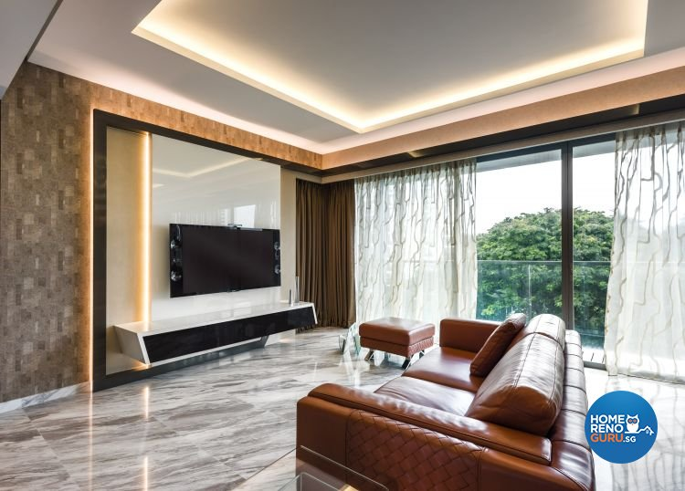Contemporary, Modern Design - Living Room - Condominium - Design by Space Vision Design Pte Ltd