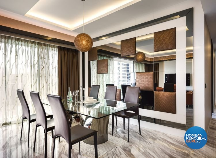 Contemporary, Modern Design - Dining Room - Condominium - Design by Space Vision Design Pte Ltd