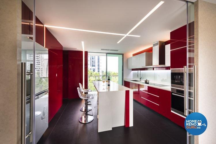 Contemporary, Modern Design - Kitchen - Condominium - Design by Space Vision Design Pte Ltd