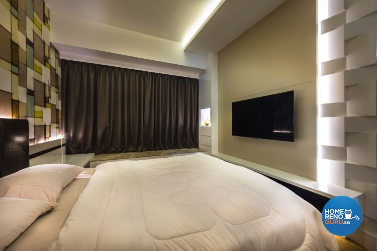 Contemporary, Modern Design - Bedroom - Condominium - Design by Space Vision Design Pte Ltd