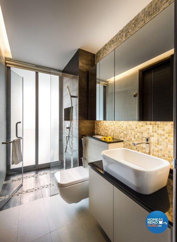 Contemporary, Modern Design - Bathroom - Condominium - Design by Space Vision Design Pte Ltd