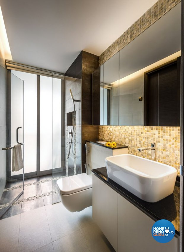 Contemporary, Modern Design - Bathroom - Condominium - Design by Space Vision Design Pte Ltd